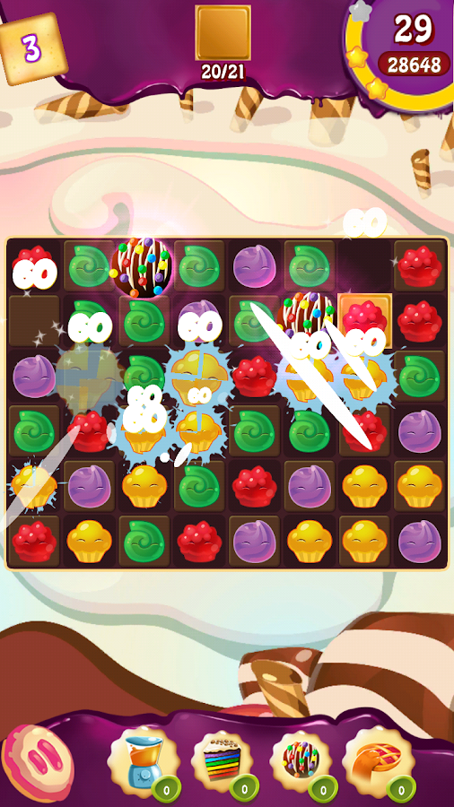Cupcake Smash: Cookie Charms Screenshot 2