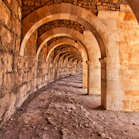 Arched Walkway by Rafael Uy - Buildings & Architecture Other Interior ( aspendos, antalya, roman structure, theater, turkey )