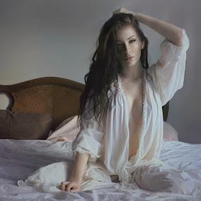 Illuminated Loneliness 7 by B Lynn - People Portraits of Women ( boudoir, woman, women, light, people, best female portraiture )