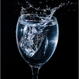 Icy Splash by Brian Rogers - Food & Drink Alcohol & Drinks ( water, freeze frame, waterdrop, still life, splashes )