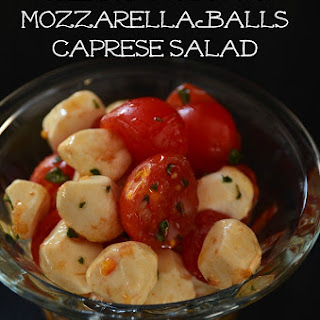 Cherry Tomato and Mozzarella Balls Caprese Salad