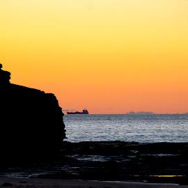 Austinmer Beach Sunrise by Jason Kryger - Landscapes Beaches ( australia, austinmer, nsw, sunrise, beach )