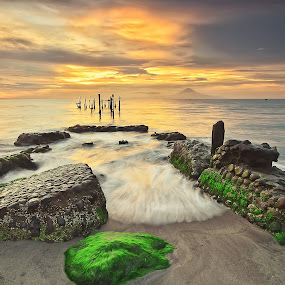 Ampenan Beach by Dede GreenHolic - Landscapes Beaches ( water, nature, sunset, stone )