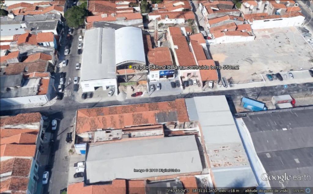 Galpão à venda, 540 m² por R$ 3.000.000 - Aldeota - Fortaleza/CE