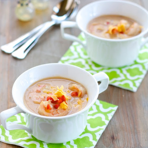 Beer Cheese Soup with Shrimp