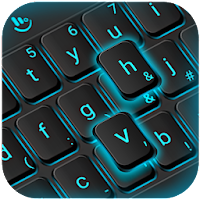 Blue Light Black Keyboard Theme on PC / Windows 7.8.10 & MAC