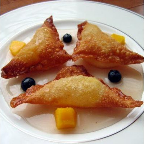 Spiced Mango Fried Ravioli With Lavender Syrup
