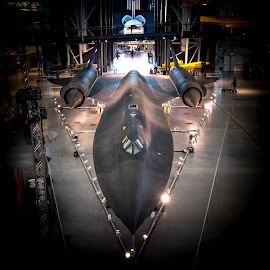 The SR71 Blackbird on Display by Gary Hanson - Transportation Airplanes ( dulles, sr 71 blackbird, display, blackbird, jet, .aircraft, 2300mph )