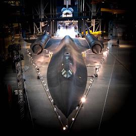 The SR71 Blackbird on Display by Gary Hanson - Transportation Airplanes ( dulles, sr 71 blackbird, display, blackbird, jet, .aircraft, 2300mph,  )