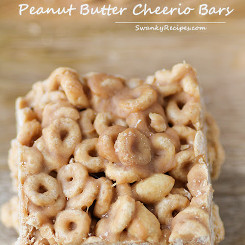 Chewy Cheerio Peanut Butter Bars