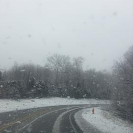 One snowy morning  by Maricor Bayotas-Brizzi - City,  Street & Park  Neighborhoods