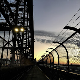 Sunrise from Sydney Harbour Bridge  by Angela Taya - Novices Only Objects & Still Life
