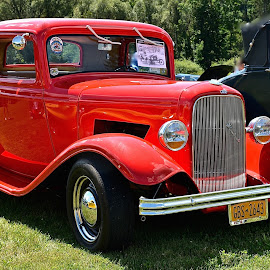 RED FORD ROADSTER by Doug Hilson - Transportation Automobiles ( car, red, bright, roadster, ford )
