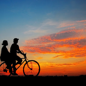 Sunset Romancing by Edi Wibowo - Transportation Bicycles