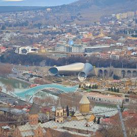 Rikhe from Narikhala by AbuBacker S - City,  Street & Park  City Parks ( georgia country, tbilisi, rikhe, narikhala, cityscape )