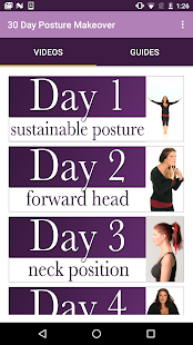 30 Day Posture Makeover Fitness app screenshot 1 for Android