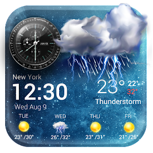 Download Daily & Hourly Weather Clock Widget