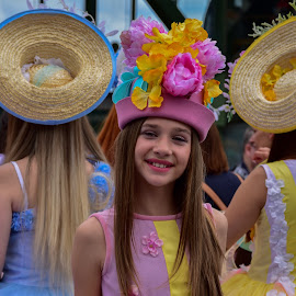 Flower girl by Barbara Walsh - Babies & Children Children Candids ( funchal, parade, girl, flowergirl, madeira )