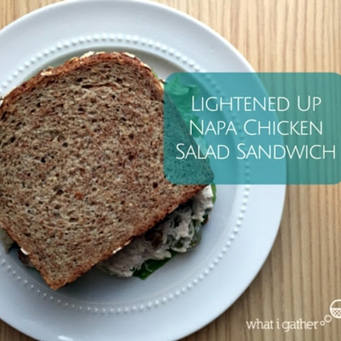 Lightened Up Napa Chicken Salad Sandwich