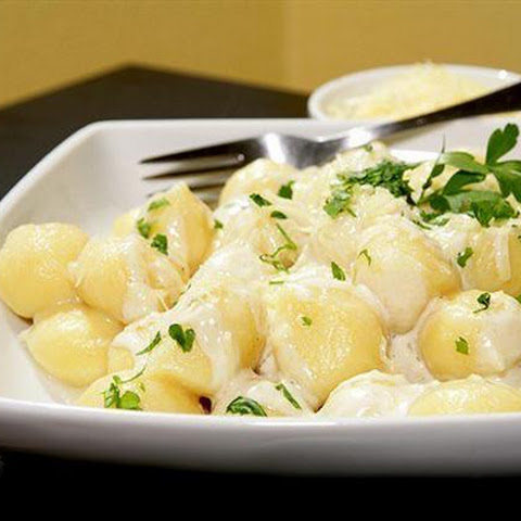 Gnocchi With Cream And Truffle Oil