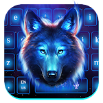 Galaxy Night Wolf Keyboard Theme Icon