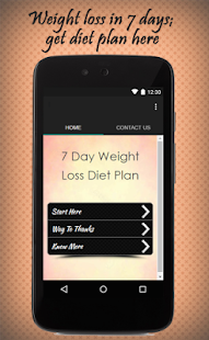 7 Day Weight Loss Diet Plan - screenshot