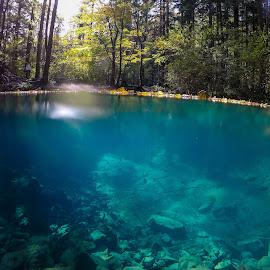 Ochiul Bei Cheile Nerei  by Ovidiu Gruescu - Nature Up Close Water