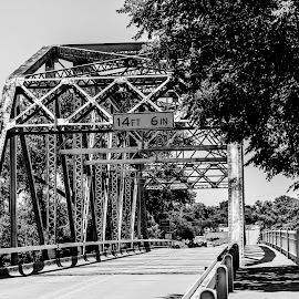 Bridge by Andrew Stevenson - Black & White Landscapes ( black and white, bridge, landscape, roads )