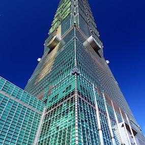 Taipei 101 by Anthony Lau - Travel Locations Landmarks ( financial, landmark, building, skyline, pwclandmarks, skyscraper, taiwan, taipei, 101 tower, architecture, commercial )