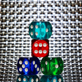 The Dice Zone by Peter Salmon - Artistic Objects Other Objects ( dice, dots, light, zone, six )