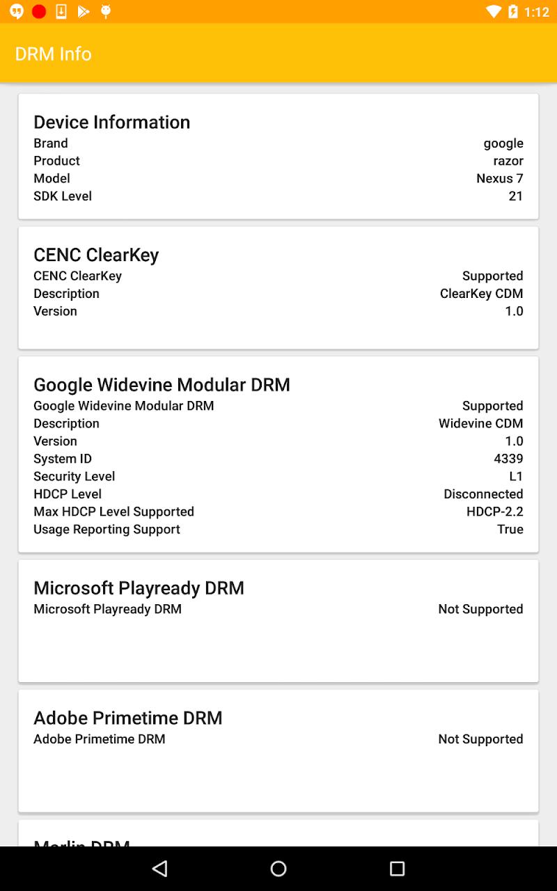 DRM Info Screenshot 8
