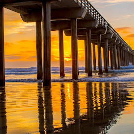 Scripps Pier by Time Stood Still Photography - Landscapes Sunsets & Sunrises
