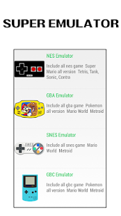 Super Emulator - NES SNES GBA GBC  Games for pc