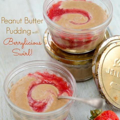 Peanut Butter Pudding with Berrylicious Swirl (feature recipe from Plant-Powered Families!)