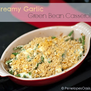 Creamy Garlic Green Bean Casserole