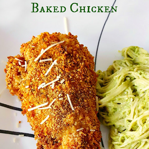 Pesto Crusted Oven Fried Chicken