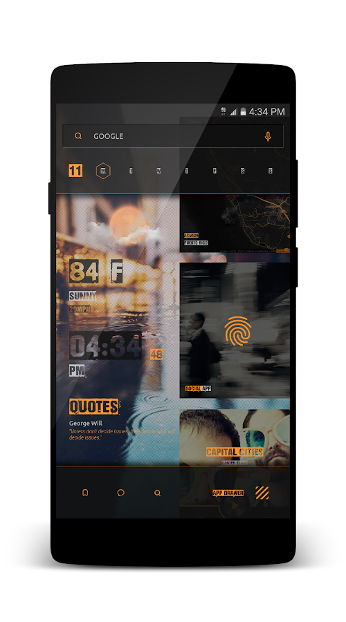 Kards CiTyyy for KLWP Screenshot 4
