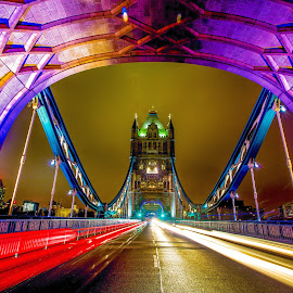 Tower Bridge by Aamir DreamPix - Buildings & Architecture Bridges & Suspended Structures ( uk, architectural detail, architecture, lights, architect, london, tower bridge, architectural, bridge, bridges, light, river thames, river )