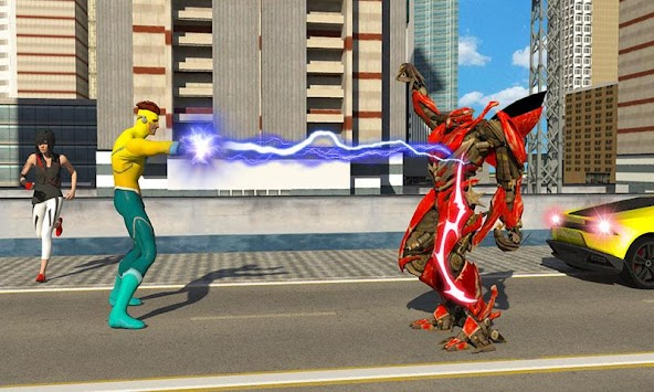 Lightning Flash Hero Speed Robot Transformation APK screenshot thumbnail 2
