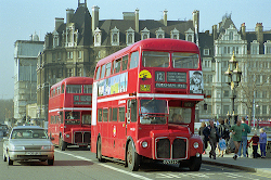 A Classic Routemaster Wedding Bus in Service