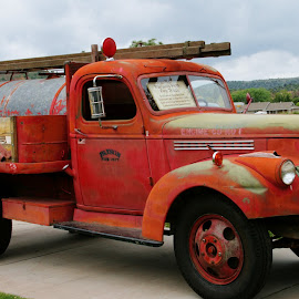 paysons first fire truck by Debbie Theobald - Transportation Automobiles ( automobiles, trucks, classic car, arizona, unedited, car show )