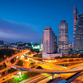 City View by PETER  LEE  - City,  Street & Park  Vistas