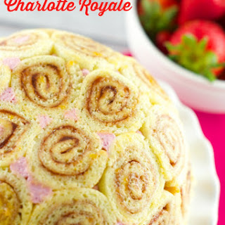 Strawberry Charlotte Royale Cake