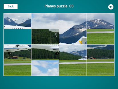 Planes Sliding Jigsaw Screenshot