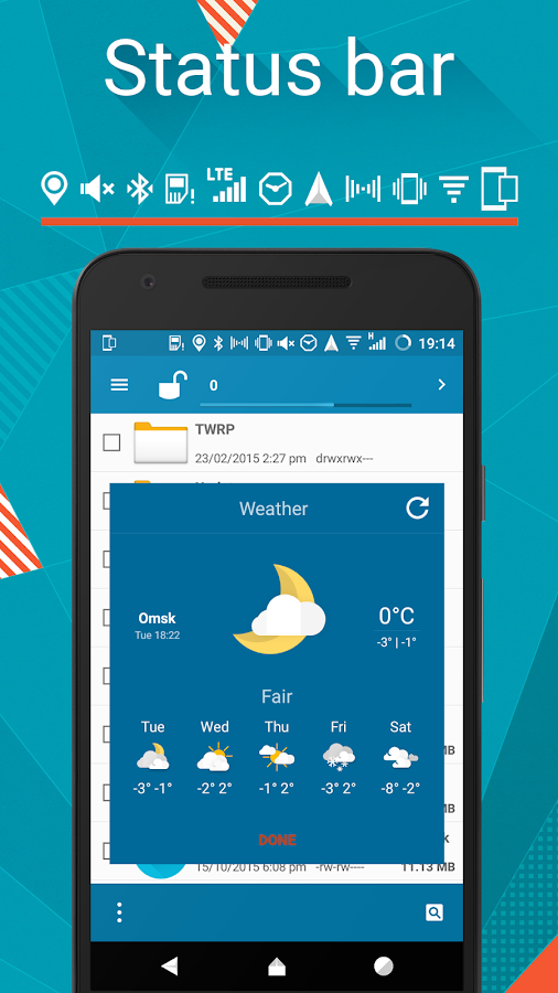 Origami cm12.1 cm13 theme Screenshot 3
