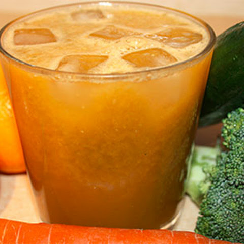 Diet Oranges Carrot Juice With Broccoli