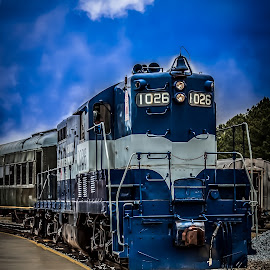 Engine 1026 by Liam Douglas - Transportation Trains ( railway, engine, railroad, outdoors, train, museum )