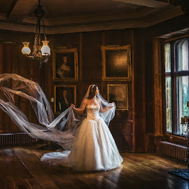 Ripley bridal 03 by Pete Bristo MBE  - Wedding Bride ( ripley castle, wedding )