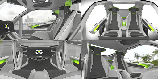 The interior is designed to be simple, comfortable and connected