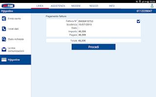 Screenshot of MyTIM Fisso